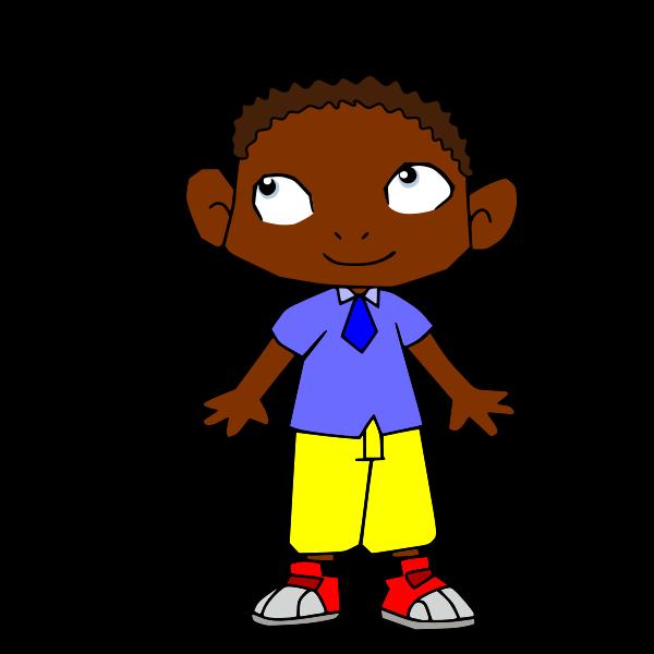 Cartoon African boy