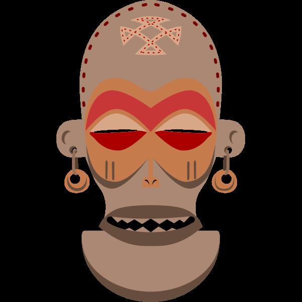 African Mask Vector Art