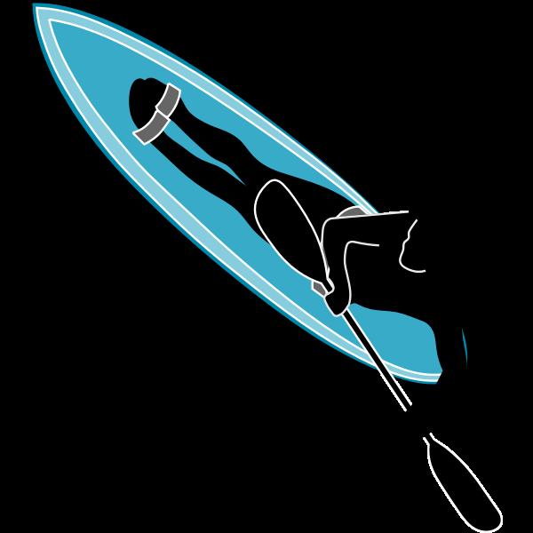 Waveski sport symbol vector illustration