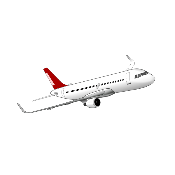 Drawing of Airbus A320 plane