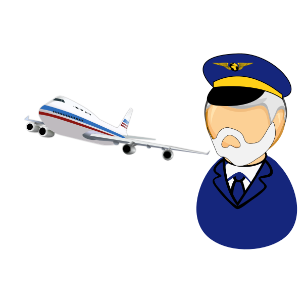 Airline captain icon