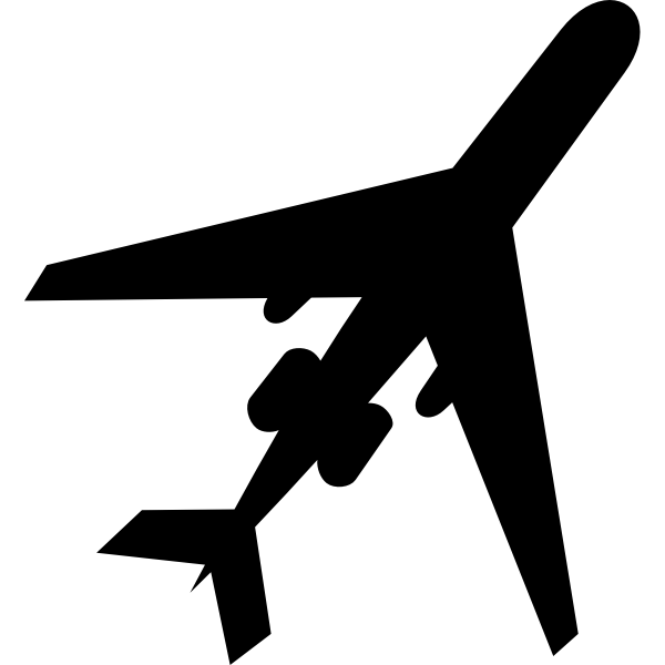 Silhouette Of An Airplane Free Svg