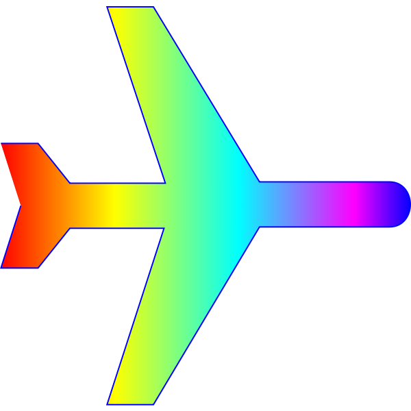 Airplane rainbow colors
