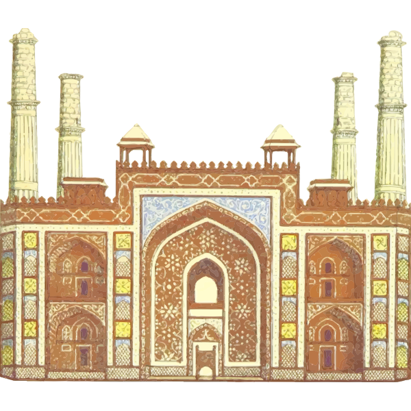 Indian tomb in vintage style