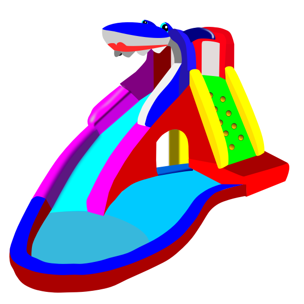 Water slide and pool