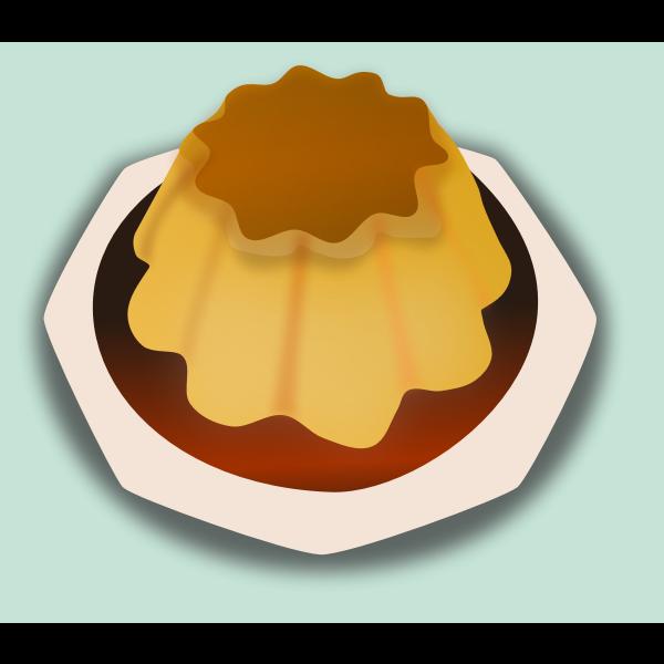 Caramel cake vector drawing