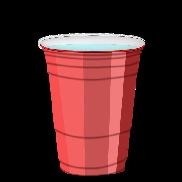 Red plastic cup vector clip art