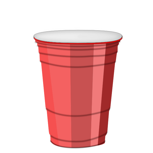 Plastic cup vector drawing