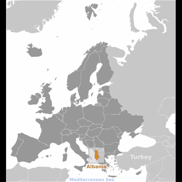 Albania location label