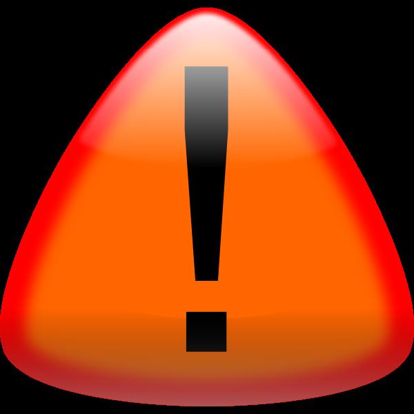 Warning button vector drawing