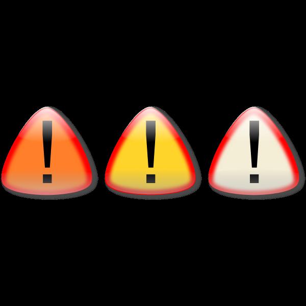 Vector clip art of caution buttons
