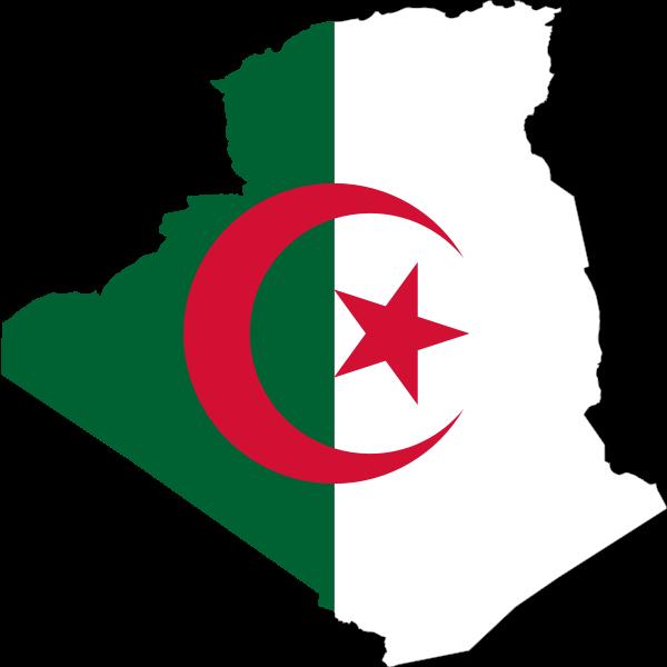 Algeria flag map