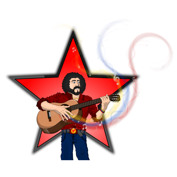 Alí Rafael Primera Rosell vector image