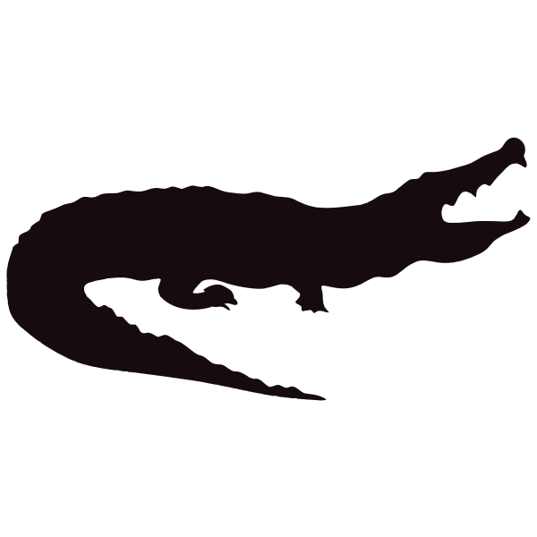 Image result for crocodile silhouette