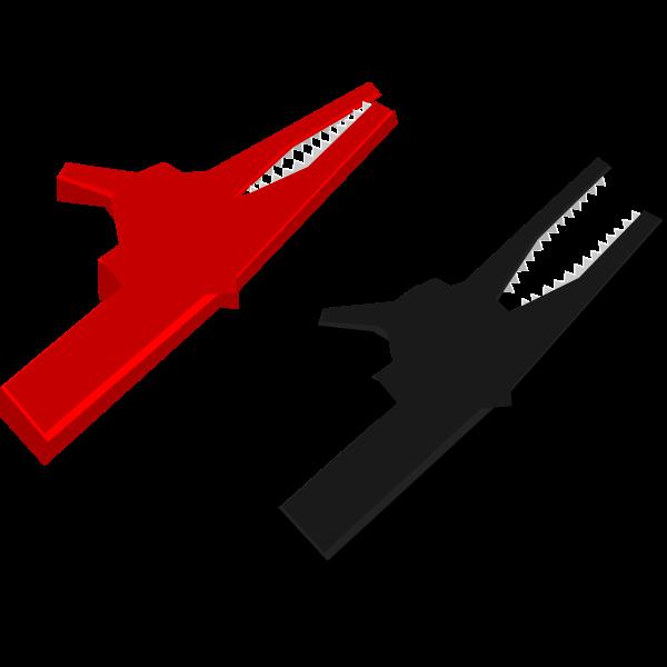 Alligator clips