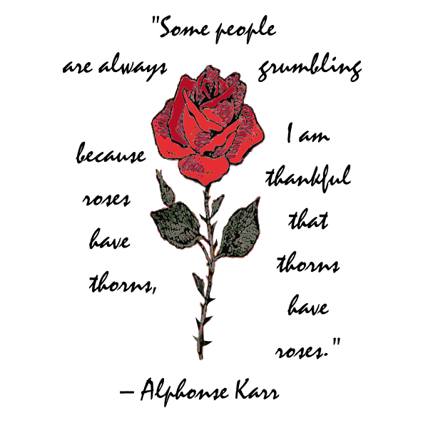 Rose with text