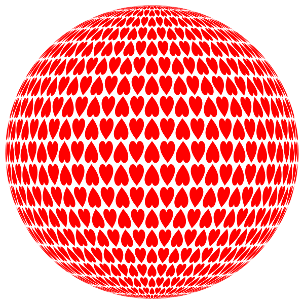 Alternating Hearts Sphere