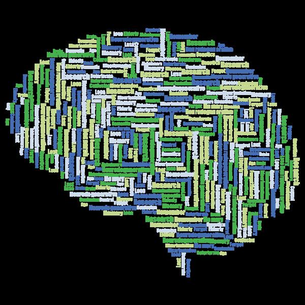 Alzheimers Brain Word Cloud No Background