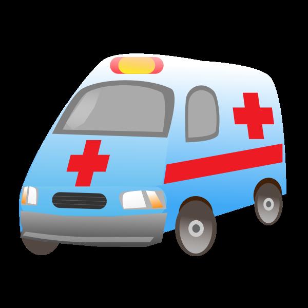 Glossy ambulance vector image.