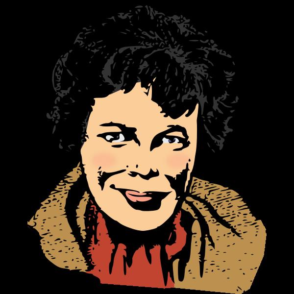 Amelia Earhart vector image