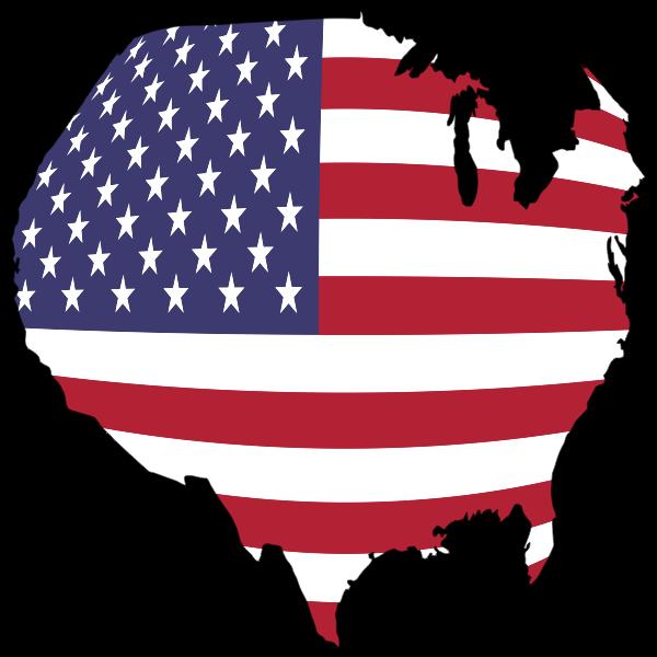 America Flag Map Globe