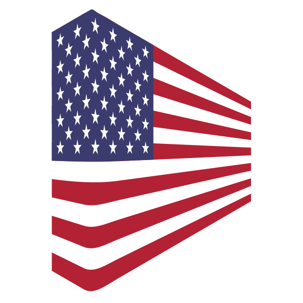 America USA Flag Perspective 1