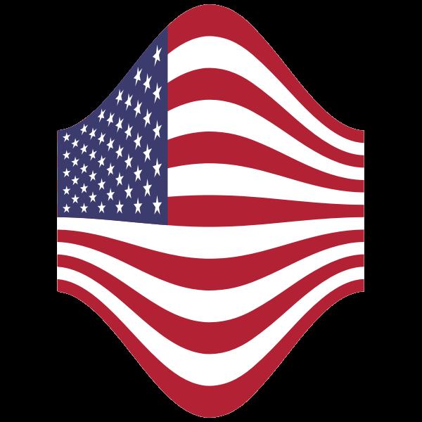 America USA Flag Perspective 3