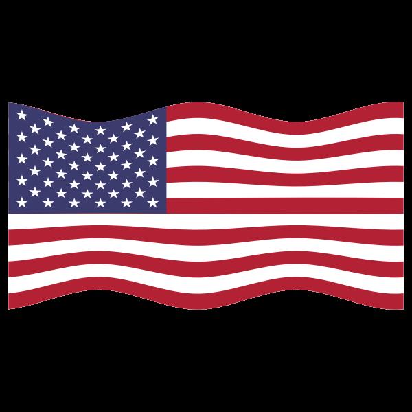 America USA Flag Wavy 2