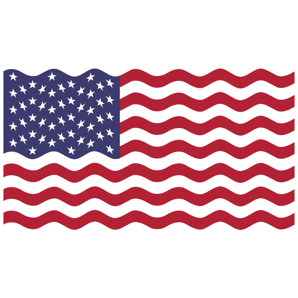 America USA Flag Wavy