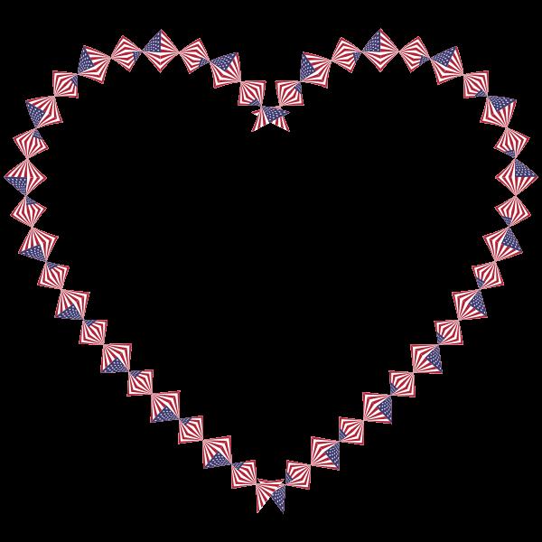 American Flag Twist Heart