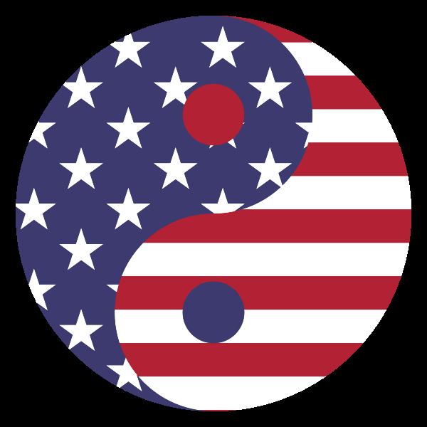 American Flag Yin Yang