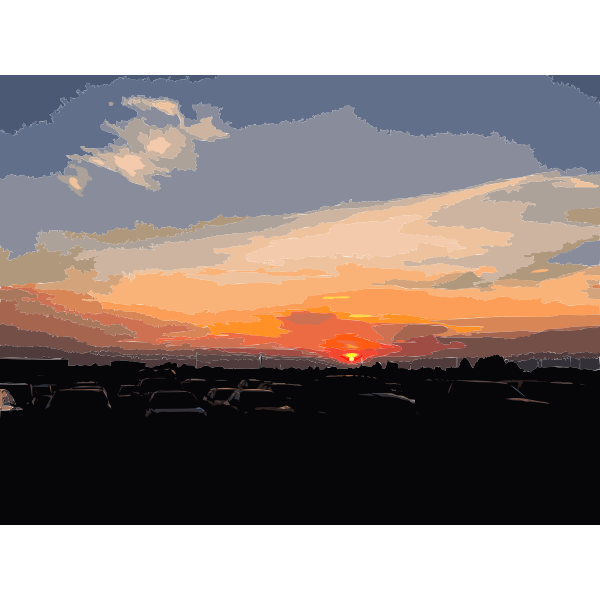 American sunset in the summer 2016061733