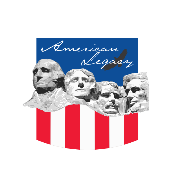 American legacy with Mt. Rushmore vector drawing