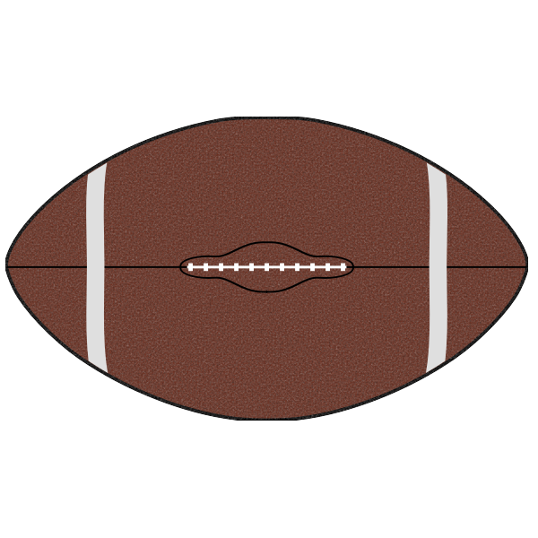 American football ball vector clip art
