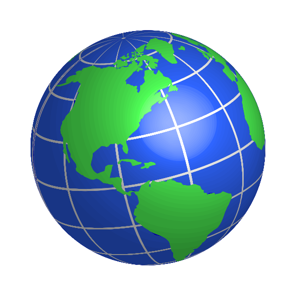 North and South American globe vector image