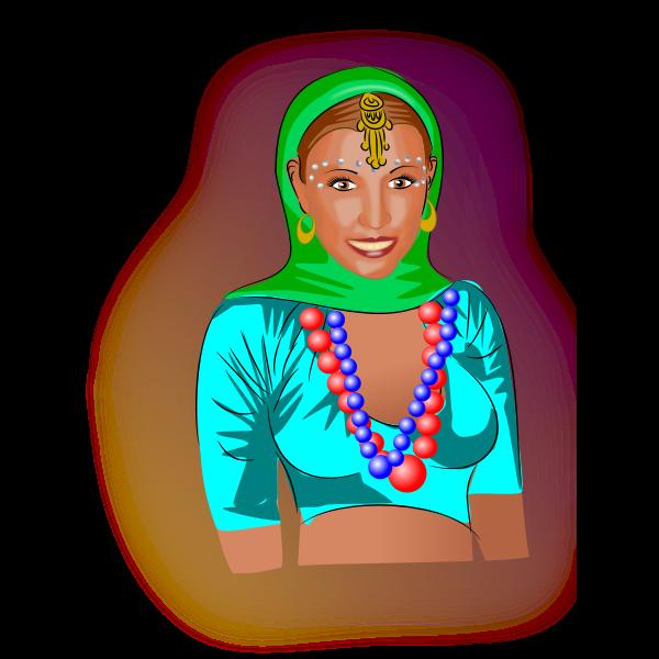 Amina portrait vector image
