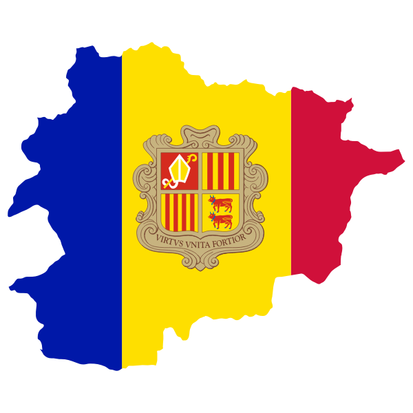 Andorra Map Flag