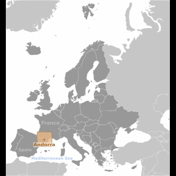 Andorra location label