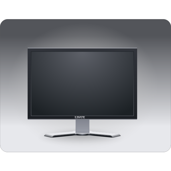 Computer monitor vector illustration