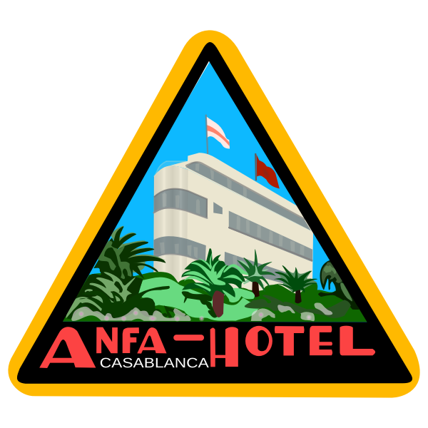 Hotel sticker vector graphics