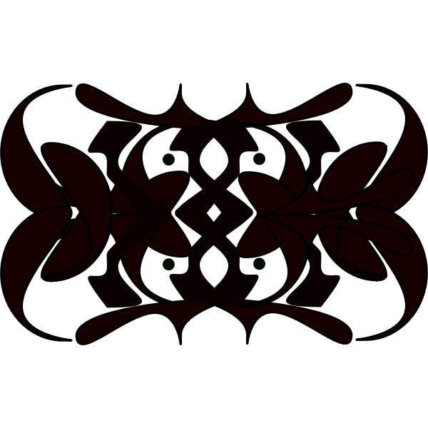 Vector image of symmetrical tribal ornament