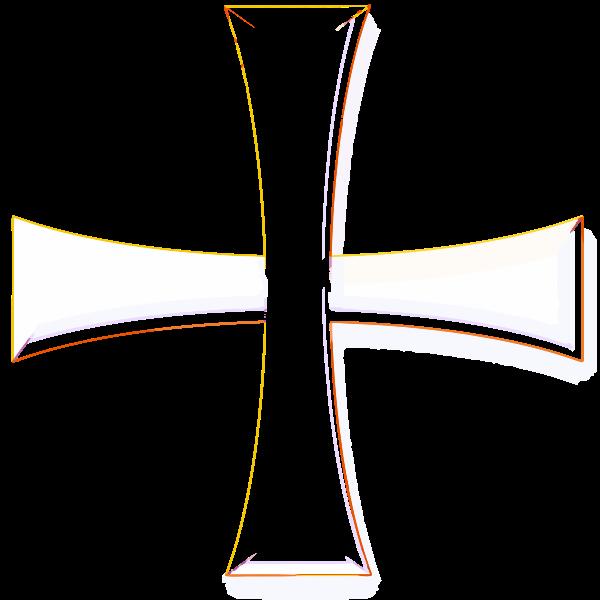 Color Greek cross vector image