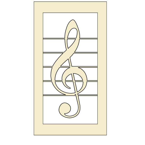 Treble clef vector graphics