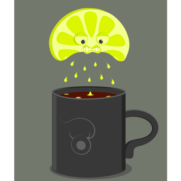 Angry lime vector illustration
