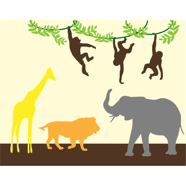 Animal Silhouettes Background