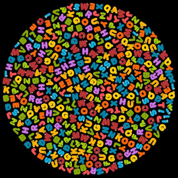 Circle with alphabet