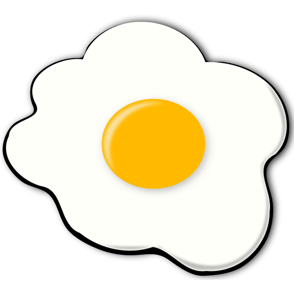 Vector drawing of egg about to be cooked