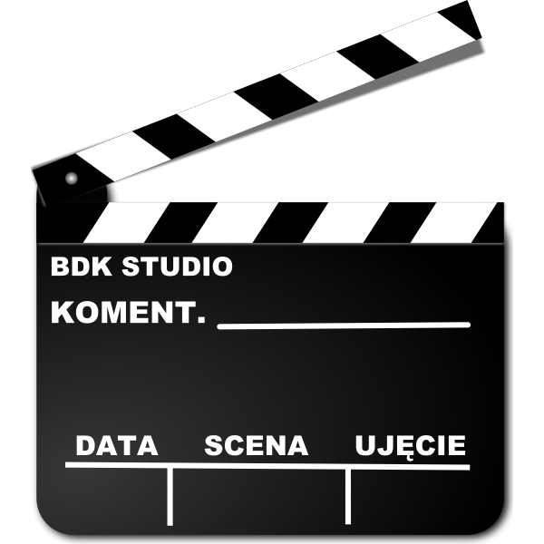 Filming clapperboard vector image