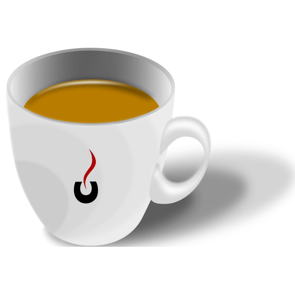vector graphics of cup of espresso coffee