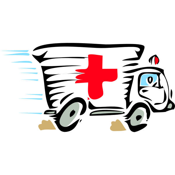 Ambulance truck vector image